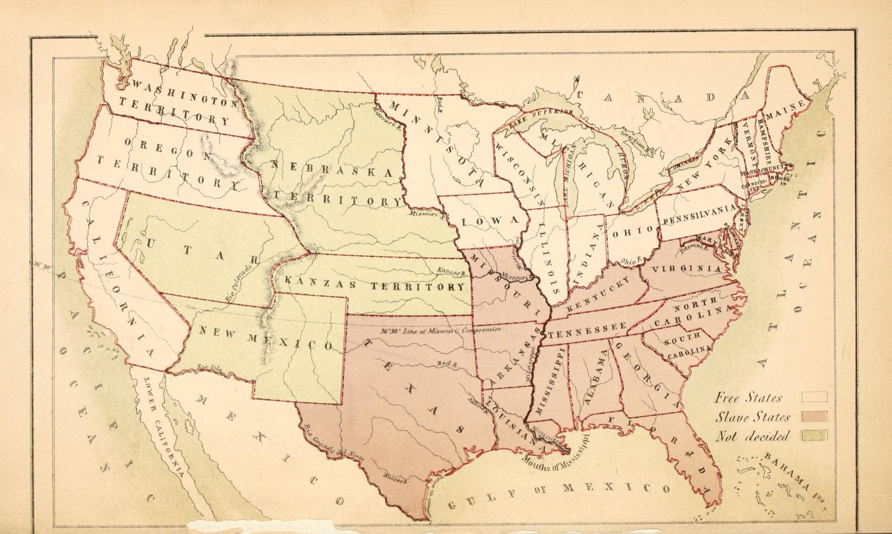 The Family History Guide - Map of us states 1860 slave