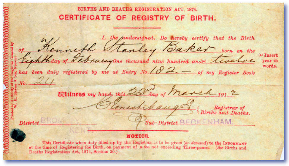 The family history guide - General register office birth certificate ...