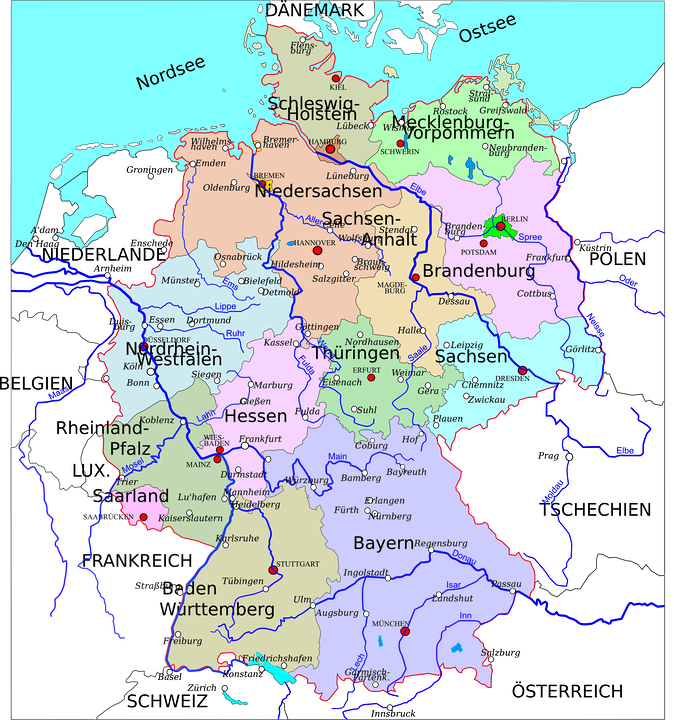 The Family History Guide - Germany map in 1850