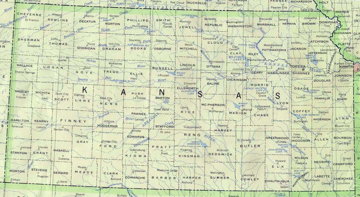 A Learn About Kansas Maps And Gazetteers