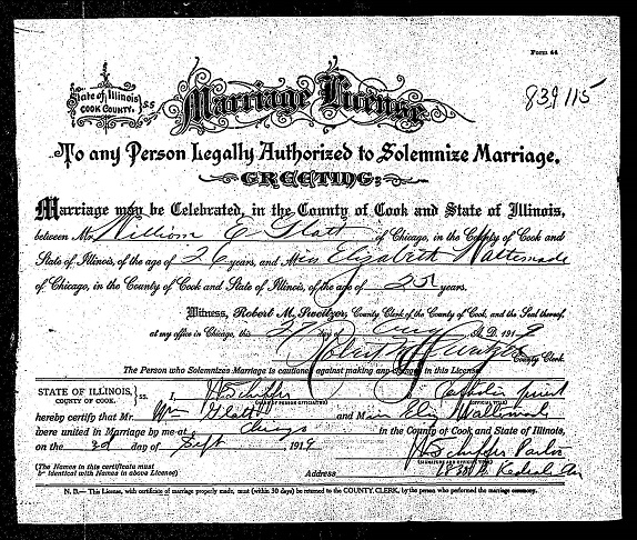 Marriage Records United States Goal B4